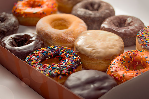 Image of a variety of donuts