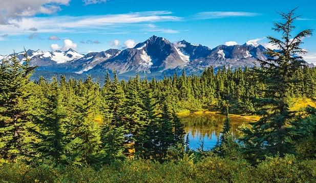 Alaskan landscape of Seward, Alaska