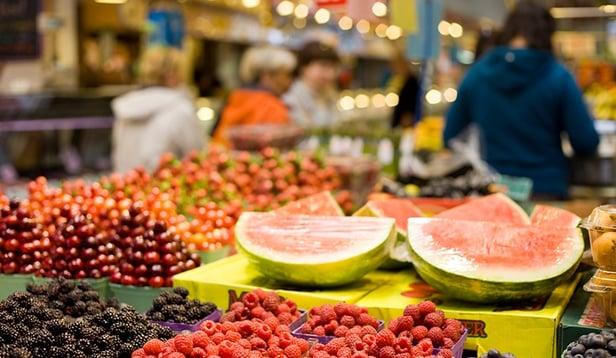 Image of fruit at Granville Island Market