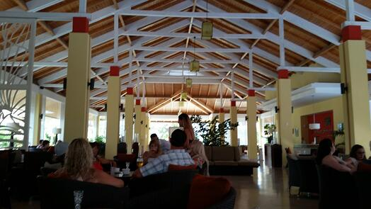 Lobby of Playa Cayo Santa Maria, our first hotel