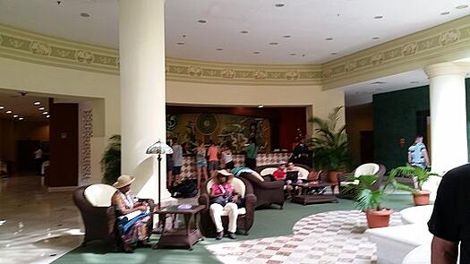 Lobby of our second hotel, Hotel Quinta Avenida
