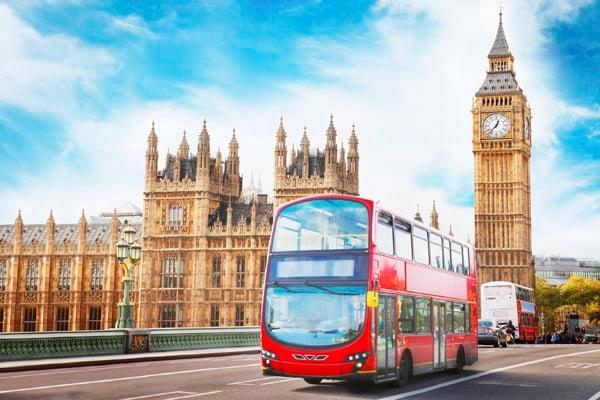 London-England-Double-decker bus and Big Ben
