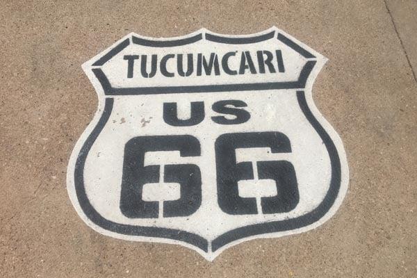 Route 66 Tucumcari Road Sign