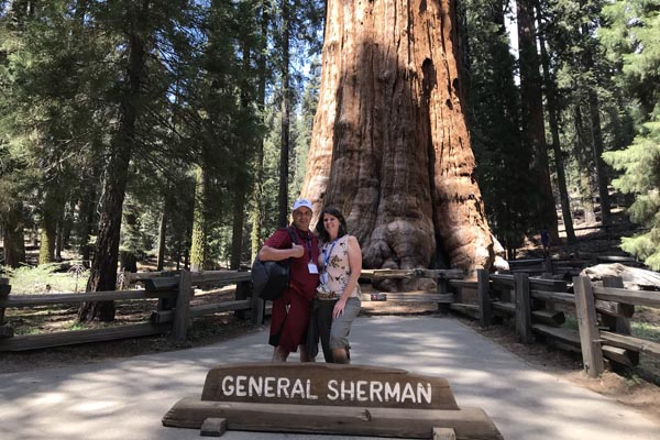 YMT Guests at General Sherman Tree Golden California Tour